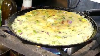 WORLD NO 1 Double Eggs Omelet | Mouthwatering Omelet | Street Food | Street Omelet | street food