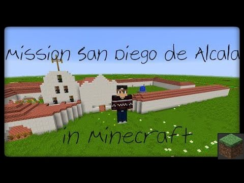 Mission San Diego de Alcala in Minecraft