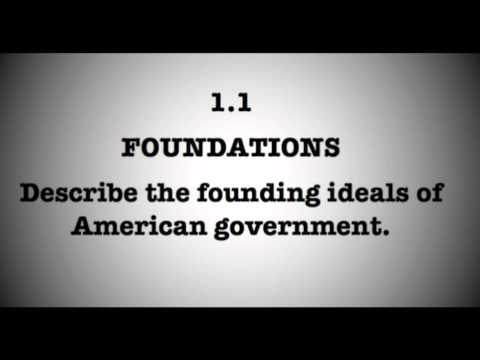 1.1 Describe the founding ideals of American government.