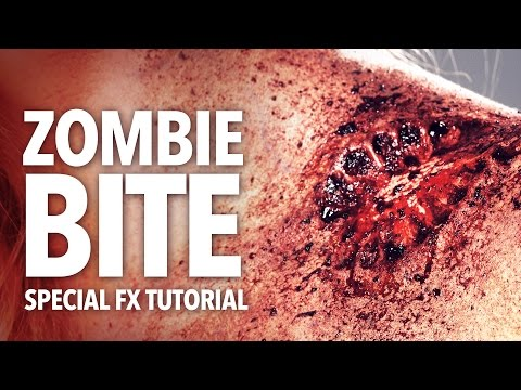 Zombie bite halloween makeup tutorial thumbnail