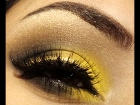 Unbelievably Bright Yellow Smokey Eye Makeup Tutorial ...
