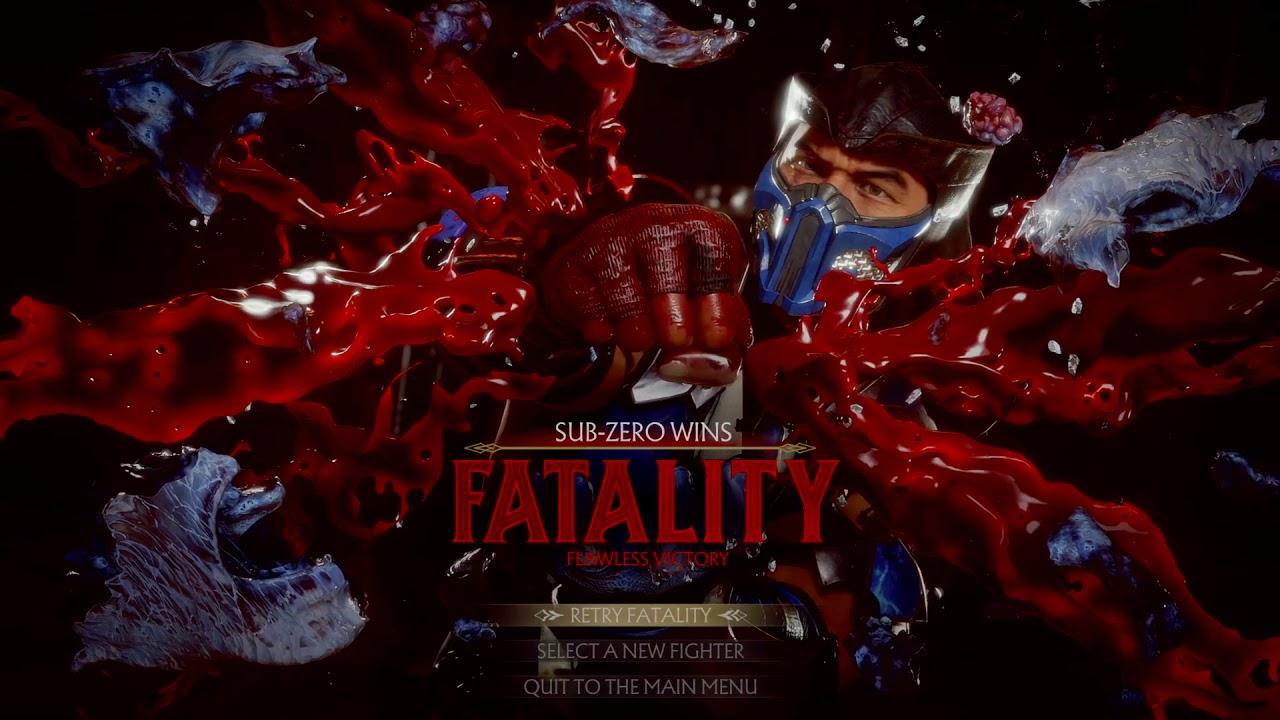 Sub-Zero Mortal Kombat 11 Fatalities Guide - Inputs List