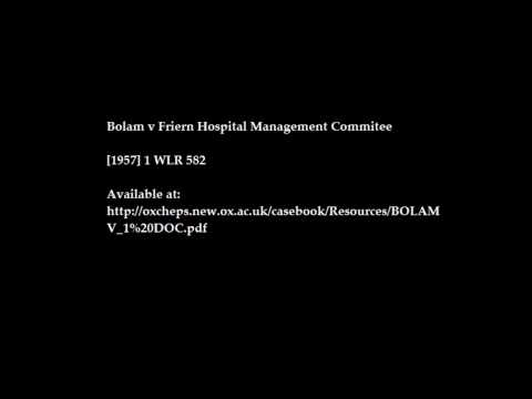 Bolam v Friern Hospital Management Committee