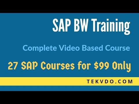 SAP BW Training - Complete BW Course - SAP BI Training