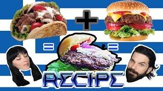 My Big Fat Greek Hamburger - Gyro Burger Recipe - Hybrid Fare Ep2