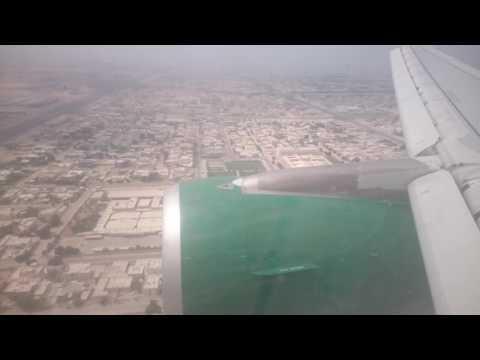 landing in Sharjah Airport 4K video