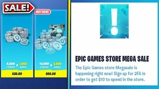 Epic Games Store MEGA Sale.. Free $10 For Fortnite? EXPLAINED!