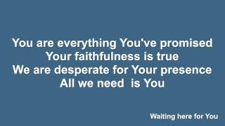 Waiting Here For You (Martin Smith) - Instrumental with lyrics