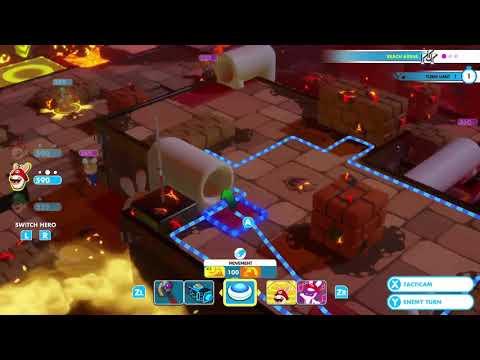 Mario + Rabbids Kingdom Battle - Lava Pit Challenge 9 (Uphill Battle)