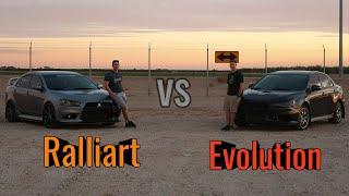Mitsubishi Evo vs Ralliart