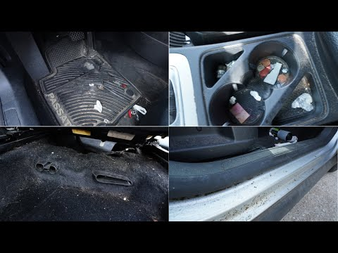 Filthy 10 Year Old Car Interior Thoroughly Cleaned - Leather Car Cleaning