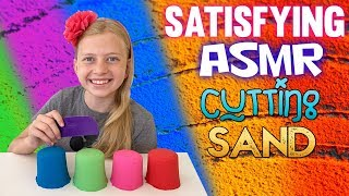 Super Satisfying Kinetic Sand Slime Cutting