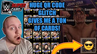 HOLY SUPERTOKEN QR CODE GLITCH! I GET A TON OF SUPERSTARS FROM 1 QR CODE! Noology WWE SuperCard S5!!