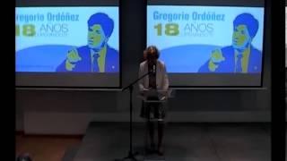 Ana Iríbar - Presentación archivo Gregorio Ordóñez Valencia - 21.06.2013