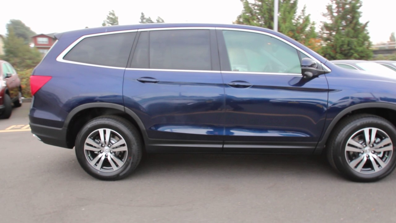 2016 Honda Pilot Ex L Obsidian Blue Gb031781 Seattle On