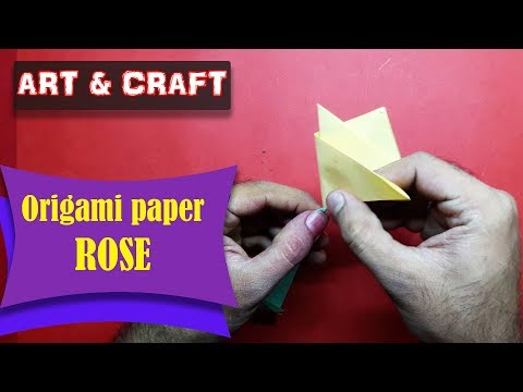 DIY  How to make an origami paper Rose || Art & Craft || Open Mind 🎊