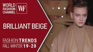 Cover images BRILLIANT BEIGE FASHION TRENDS FALL-WINTER 19-20