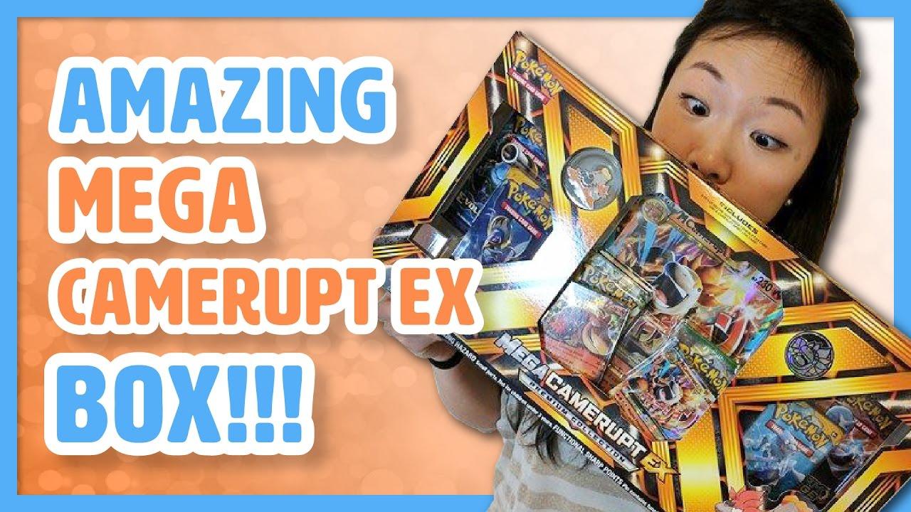 Mega Camerupt-EX OR Sharpedo-EX Premium Collection box ONE SUPPLIED Pokemon TCG