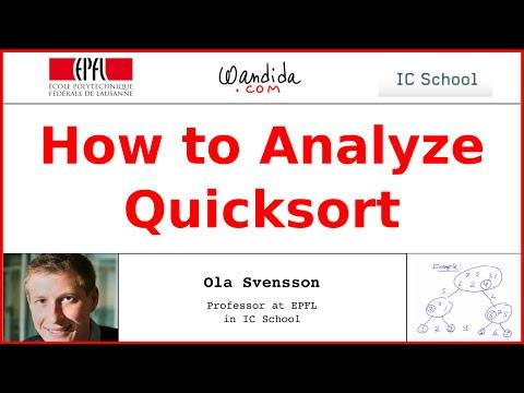 How to Analyze Quicksort | Ola Svensson