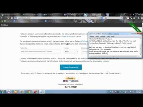 How To Download Fanfictions From FanFiction Net (Free)