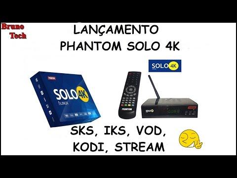PHANTOM SOLO 4K TUTORIAL COMPLETO - SKS, IKS, VOD, KODI, IPTV [FOZ RECEPTORES]
