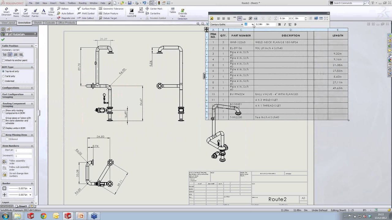 Creating Routing Drawings In Solidworks