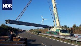 Einmaliger Bau: Eine Brücke über das A20-Loch | die nordreportage | NDR Doku