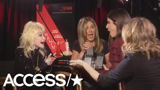 Sandra Bullock Crashes Jennifer Aniston & Dolly Parton's 'Dumplin' Interview & Brings Tequila!