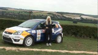 Louise Cook British Female Rally Driver on the road to the World Rally Championship