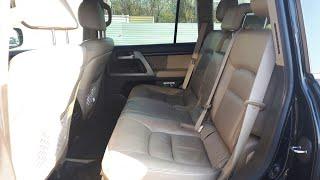 Снимаем третий ряд сидений. Toyota LC200