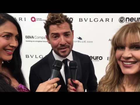 David Bisbal MI PRINCESA Acapela - Elton John AIDS Foundation 25th Anniversary Oscar Party