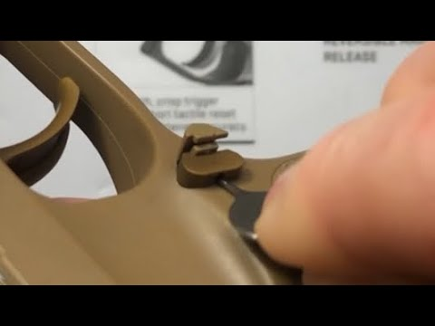 SIG Sauer P320 / P365 magazine release removal using SIM card removal tool