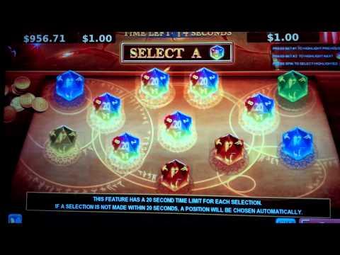 Dungeons & Dragons Slot Machine Feature Bonus Round - Mega Progressive Win! - 동영상