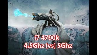 i7 4790k 4.5Ghz vs 5Ghz Games Medium Preset Vol.1