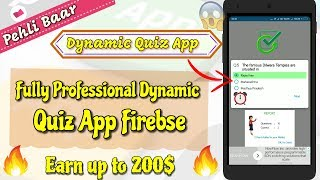 Earn up to 200$ 🔥 Fully Dynamic 100% professional Quiz App #Makeroid