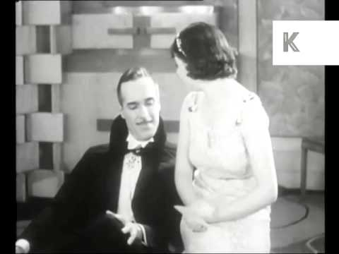 1930s UK Cinema Cigarette Advert, Archive Footage, Oddity