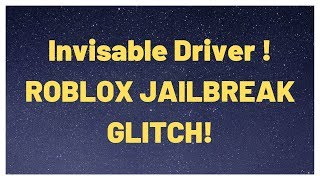 INVISIBLE ATV/VOLT DRIVER GLITCH! | ROBLOX JAILBREAK | [NEW]