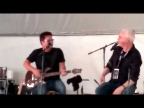 Brent Mason with Paul Reed Smith at the Willcutt Guitars 50th Anniversary Event
