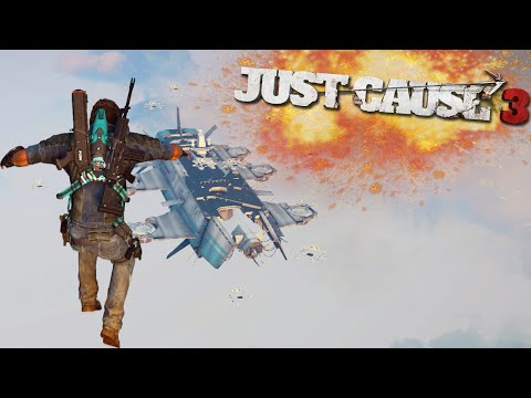 JUST CAUSE 3 FREE ROAM - IRON MAN WINGSUIT | Just Cause 3 Funny Moments