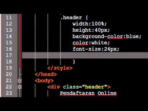 Tutorial Membuat Form Pendaftaran Online Dengan HTML Dan CSS Pada Notepad++