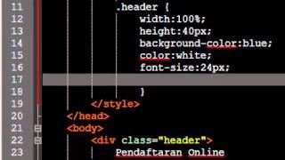 Tutorial membuat form pendaftaran online dengan html dan css pada notepad++ thumbnail