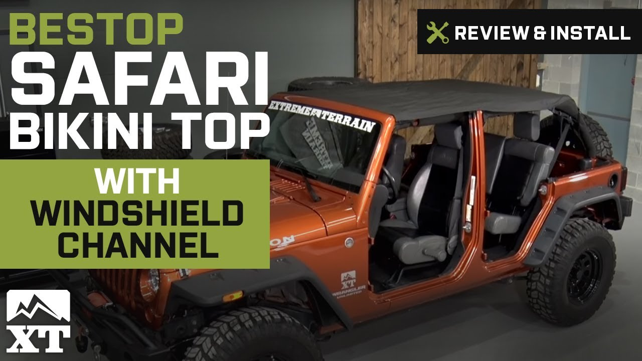 Jeep Wrangler (2010 2017 JK) Bestop Safari Bikini Top W/ Windshield Channel  Review U0026 Install