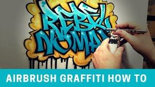 Airbrush graffiti name design
