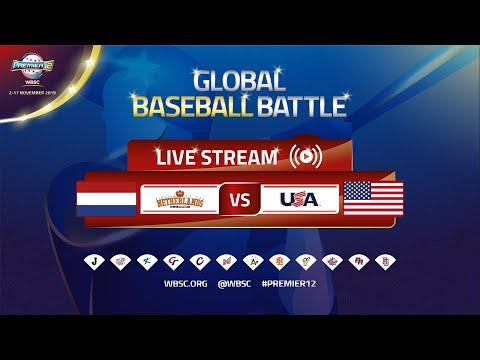 Netherlands v USA - WBSC 2019 Premier12 Group Stage