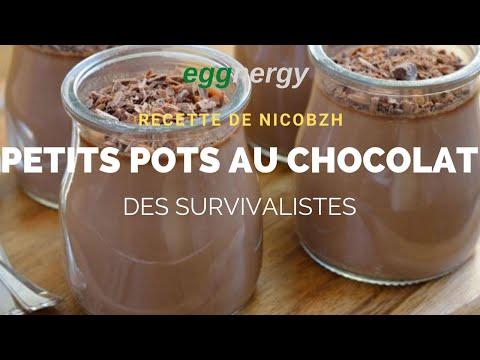 Petits pots au chocolat des survivalistes