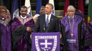 President Obama sings Amazing Grace (C-SPAN)