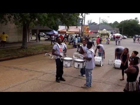 2015  Community Fest - Dermott High School Band Drumline VS Cummins Prison Band