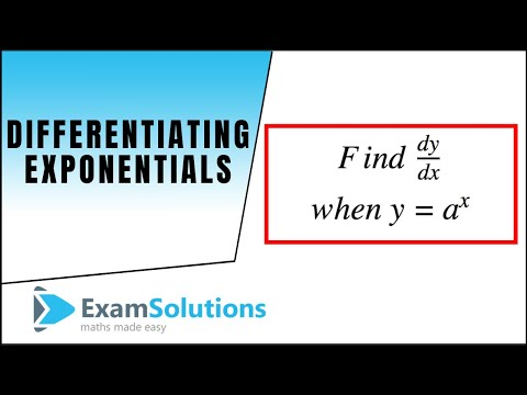 Differentiation of a^x type exponential functions : ExamSolutions