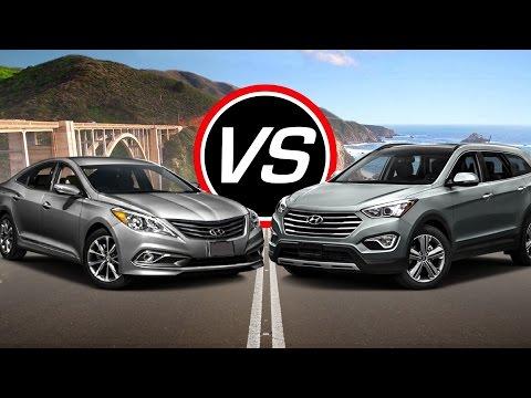 2016 Hyundai Azera vs Santa Fe Sport - Spec Comparison!