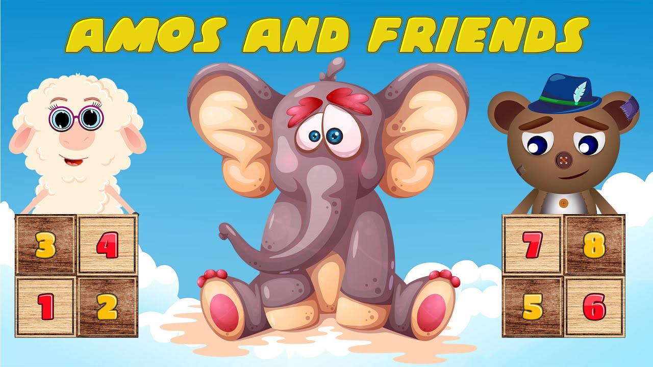 Amos and friends | Learning numbers for kids 7 + Nursery Rhymes & Kids Songs